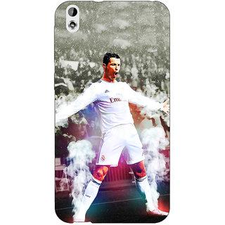 Jugaaduu Cristiano Ronaldo Real Madrid Back Cover Case For HTC Desire 816 Dual Sim - J1060305