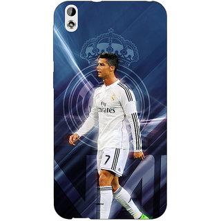 Jugaaduu Cristiano Ronaldo Real Madrid Back Cover Case For HTC Desire 816 Dual Sim - J1060317