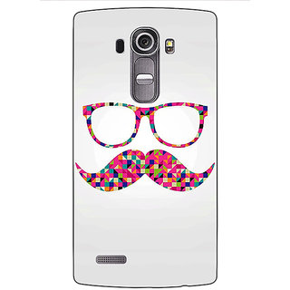 Jugaaduu Mustache Back Cover Case For LG G4 - J1100751