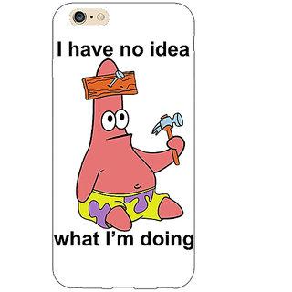 Jugaaduu Spongebob Patrick Back Cover Case For Apple iPhone 6S Plus - J1090474