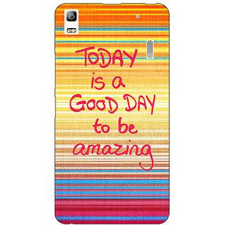 Jugaaduu Good Day Pattern Back Cover Case For Lenovo K3 Note - J1120232