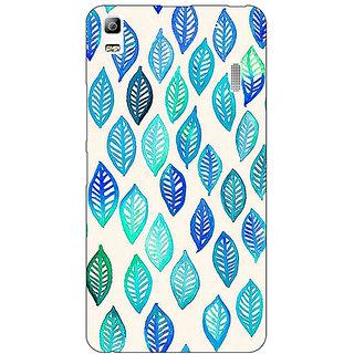 Jugaaduu Blue Leaves Pattern Back Cover Case For Lenovo K3 Note - J1120254