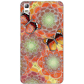 Jugaaduu Butterflies Pattern Back Cover Case For Lenovo K3 Note - J1120261