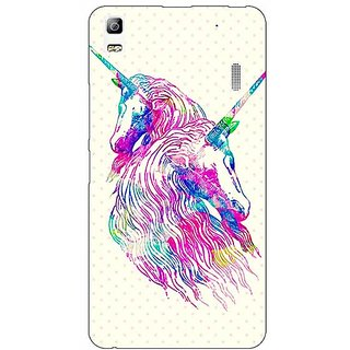 Jugaaduu Unicorn  Back Cover Case For Lenovo K3 Note - J1120610