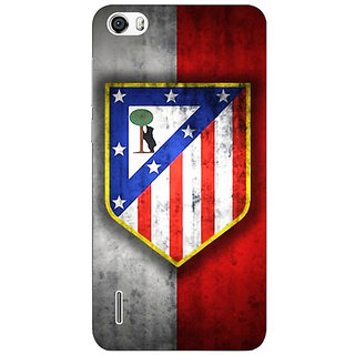 Jugaaduu Athletico Madrid Back Cover Case For Huawei Honor 6 - J860521