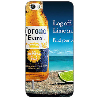 Jugaaduu Corona Beer Back Cover Case For Huawei Honor 6 - J861237