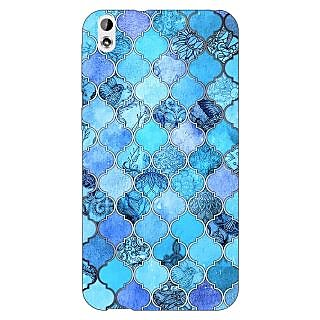 Jugaaduu Blue Moroccan Tiles Pattern Back Cover Case For HTC Desire 816G - J1070287