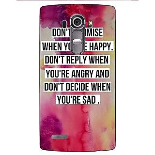 Jugaaduu Wise Quote Back Cover Case For LG G4 - J1101144