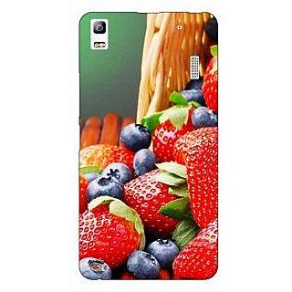 Jugaaduu Strawberry Love Back Cover Case For Lenovo K3 Note - J1120695