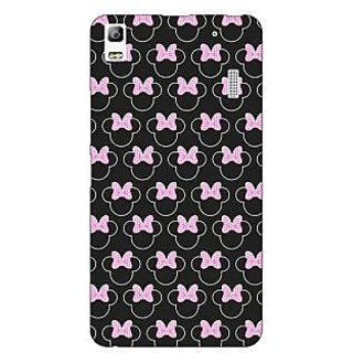 Jugaaduu Minnie Mouse Pattern Back Cover Case For Lenovo K3 Note - J1121386