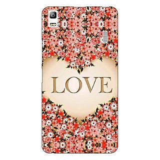 Jugaaduu Love Floral Back Cover Case For Lenovo K3 Note - J1121419