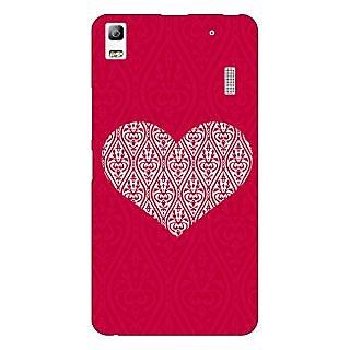 Jugaaduu Hearts Back Cover Case For Lenovo K3 Note - J1121425