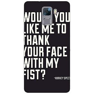Jugaaduu SUITS Quotes Back Cover Case For Huawei Honor 7 - J870485