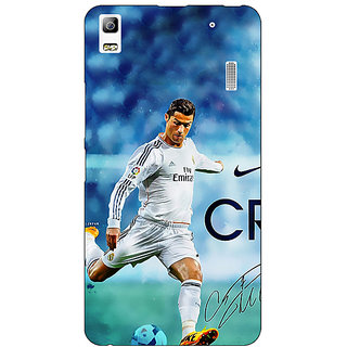 Jugaaduu Cristiano Ronaldo Real Madrid Back Cover Case For Lenovo K3 Note - J1120313