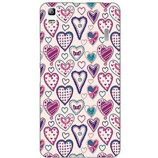 Jugaaduu Hearts Back Cover Case For Lenovo K3 Note - J1120710