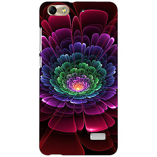 Jugaaduu Abstract Flower Pattern Back Cover Case For Huawei Honor 4C - J851504