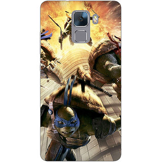 Jugaaduu Ninja Turtles Back Cover Case For Huawei Honor 7 - J870889