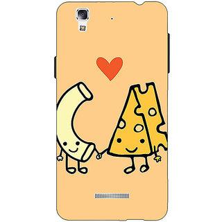 Jugaaduu Cheese Donut Love Back Cover Case For Micromax Yu Yureka - J881133