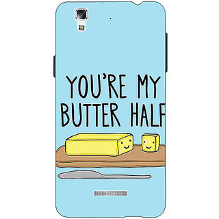Jugaaduu Quotes Better half Back Cover Case For Micromax Yu Yureka - J881140