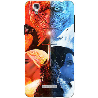 Jugaaduu Game Of Thrones GOT Khaleesi Daenerys Targaryen House Stark Jon Snow Back Cover Case For Micromax Yu Yureka - J881542