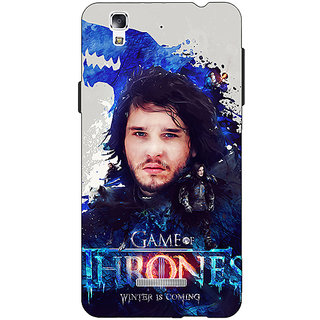 Jugaaduu Game Of Thrones GOT Jon Snow House Stark Back Cover Case For Micromax Yu Yureka - J881548