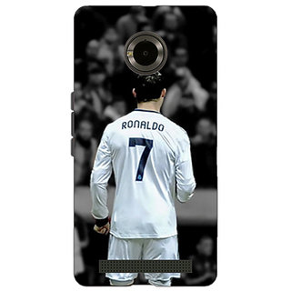 Jugaaduu Cristiano Ronaldo Real Madrid Back Cover Case For Micromax Yu Yuphoria - J890315