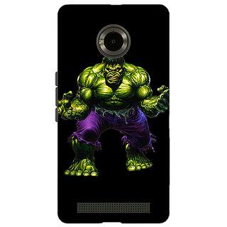 Jugaaduu Superheroes Hulk Back Cover Case For Micromax Yu Yuphoria - J890327