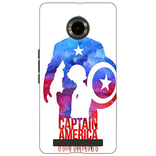Jugaaduu Superheroes Captain America Back Cover Case For Micromax Yu Yuphoria - J890332