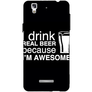 Jugaaduu Beer Quote Back Cover Case For Micromax Yu Yureka - J881209