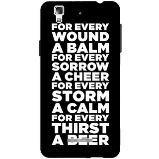 Jugaaduu Beer Quote Back Cover Case For Micromax Yu Yureka - J881216