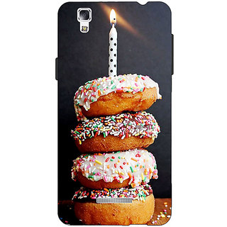 Jugaaduu Donut Birthday Back Cover Case For Micromax Yu Yureka - J881218