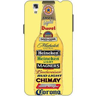 Jugaaduu Beer Bottle Back Cover Case For Micromax Yu Yureka - J881248