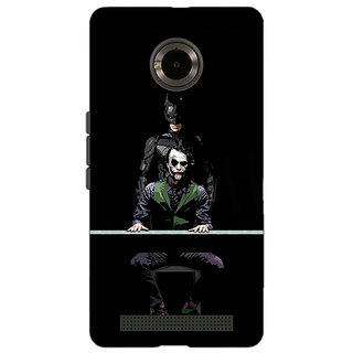 Jugaaduu Superheroes Batman Dark knight Back Cover Case For Micromax Yu Yuphoria - J890017