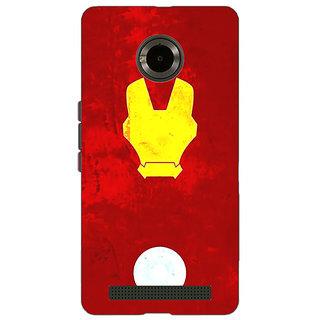 Jugaaduu Superheroes Ironman Back Cover Case For Micromax Yu Yuphoria - J890021