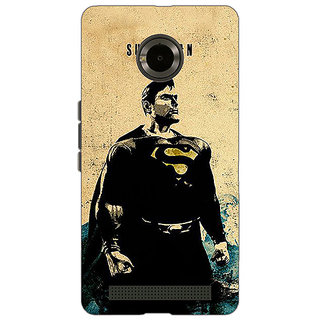 Jugaaduu Superheroes Superman Back Cover Case For Micromax Yu Yuphoria - J890027