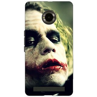 Jugaaduu Villain Joker Back Cover Case For Micromax Yu Yuphoria - J890036