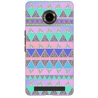 Jugaaduu Aztec Girly Tribal Back Cover Case For Micromax Yu Yuphoria - J890068