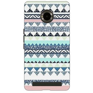 Jugaaduu Aztec Girly Tribal Back Cover Case For Micromax Yu Yuphoria - J890073
