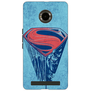 Jugaaduu Superheroes Superman Back Cover Case For Micromax Yu Yuphoria - J890387