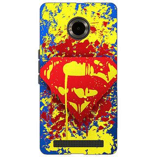 Jugaaduu Superheroes Superman Back Cover Case For Micromax Yu Yuphoria - J890392