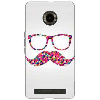 Jugaaduu Mustache Back Cover Case For Micromax Yu Yuphoria - J890751