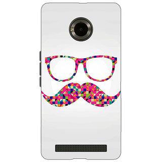 Jugaaduu Mustache Back Cover Case For Micromax Yu Yuphoria - J890751