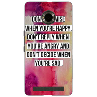 Jugaaduu Wise Quote Back Cover Case For Micromax Yu Yuphoria - J891144