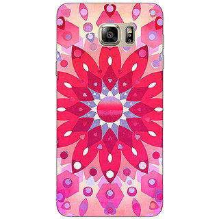 Jugaaduu Red Flower Pattern Back Cover Case For Samsung S6 Edge+ - J900256