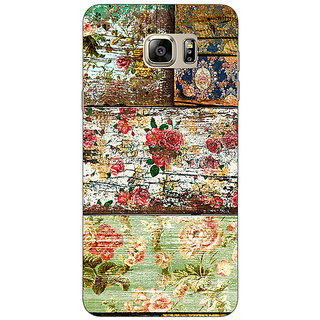 Jugaaduu Floral Pattern  Back Cover Case For Samsung S6 Edge+ - J900673