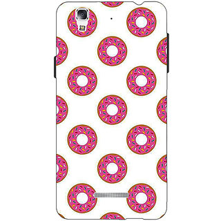 Jugaaduu Donut Pattern Back Cover Case For Micromax Yu Yureka - J881384