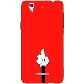 Jugaaduu Mickey Mouse Back Cover Case For Micromax Yu Yureka - J881391