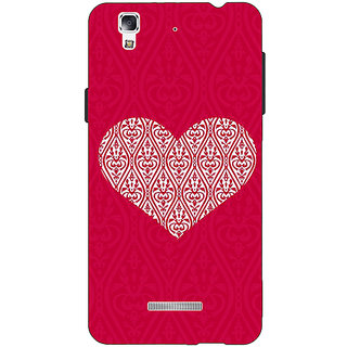 Jugaaduu Hearts Back Cover Case For Micromax Yu Yureka - J881425
