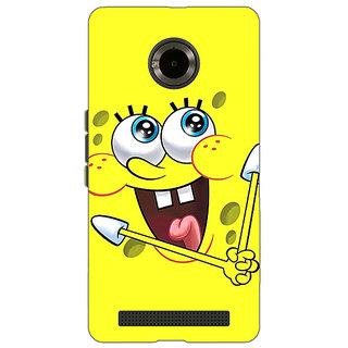 Jugaaduu Spongebob Back Cover Case For Micromax Yu Yuphoria - J890460