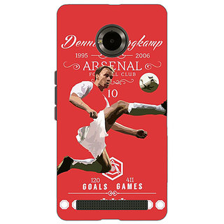 Jugaaduu Arsenal Dennis Bergkamp Back Cover Case For Micromax Yu Yuphoria - J890501